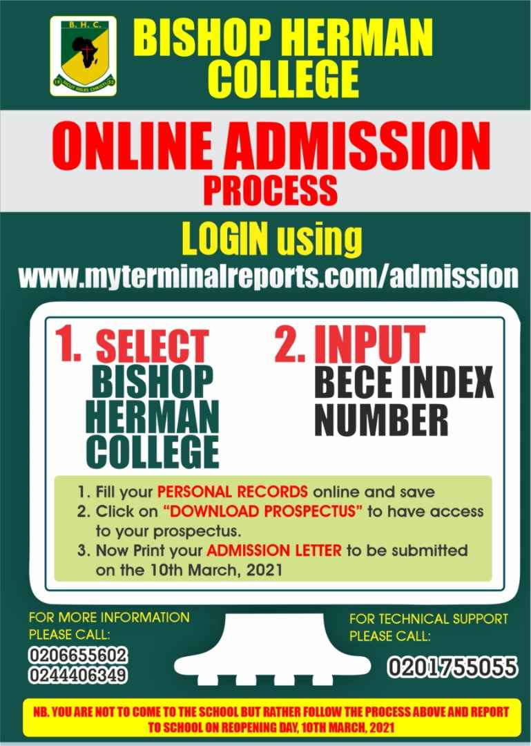 Bishop Herman College Online Admission Process